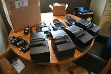 Lot of 3 Equinox L5300 Credit Card Payment Terminal Contactless plus printers