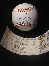 MIKE GONZALEZ Signed Autograph Auto ROMLB Baseball Ball Pittsburgh Pirates COA