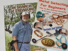 2 BOOK LOT METAL DETECTING FOR BEGINNERS & IN SEARCH OF TREASURE