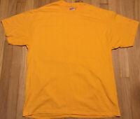 NOS Vintage 90s HANES t shirt XL yellow single stitch blank plain basic 50/50