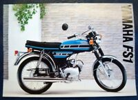YAMAHA FS1 49cc Motorcycle Sales Specification Leaflet 1977 #LIT-3MC-0107056-77