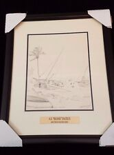 "A.E. ""BEANIE"" BACKUS FATHER OF HIGHWAYMEN ORIGINAL LITHOGRAPH FRAMED"