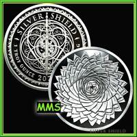 2021 1oz Spiral Aloe Proof Silver Shield MiniMintage PRESALE ***