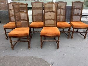 1940's dinning chairs/set 6x dinning chairs/1930's dinning chair