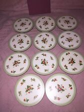 Nib Strawberry Patch Round Set 11 Coasters Made In England