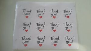 24 thank you stickers Craft Party Favors Loot Bags weddings