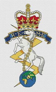 "REME Army Cross Stitch Design (5x7"", 13x18cm, kit or chart)"