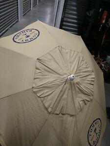 8-ft Beach Umbrella Aluminum Pole Tilt Option Wind Vent, light Tan color
