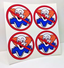 NO BOZOS Vintage Style DECALS, 2 Inch, 4 pack, Vinyl STICKERs, rat rod, racing