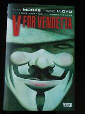 Vertigo - Alan Moore - V for Vendetta HC Graphic Novel 1st Print - Nice Book