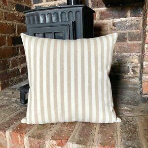 94. Stripes Natural LINEN - Cotton blend Cushion Cover Various sizes