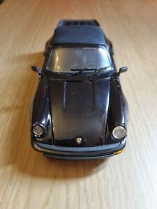 1988 Porsche 911 Carrera in Black 1/24 scale model by Franklin Mint
