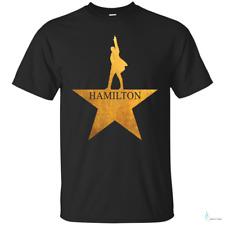 NEW Hamilton American Musical Mens Short Sleeve T-Shirt Black Cotton Tee