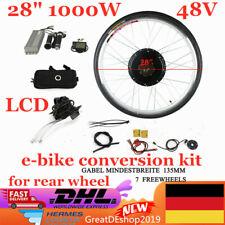 "28"" 1000W 48V Elektro-Fahrrad Umbausatz E-Bike Conversion Kit Hinterrad motor DE"