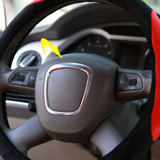 Car Steering Wheel Decorative Sticker Emblem Frame Cover For Audi A6 A4 Q5 A5 Q7