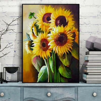 AU_ BL_ 5D Sunflower Diamond Painting Embroidery Cross Stitch DIY Home Art Decor