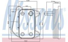 NISSENS Radiador de aceite, aceite motor VOLKSWAGEN FORD TRANSIT RENAULT 90622