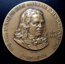 Elias Howe Hall of Fame for Great Americans Medal, 1971 by Frank Gasparro / N117