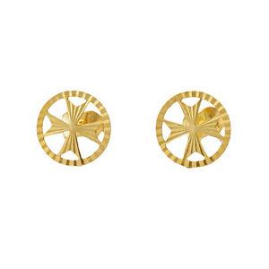 MALTESE CROSS AMALFI Hallmarked 9ct 9k Gold 375 Stud Earrings Knights of Malta