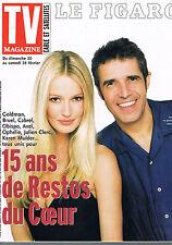 ▬► Télé Magazine Figaro de 2000 KAREN MULDER _ JULIEN CLERC