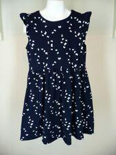 H&M Organic Cotton Navy Blue Butterfly Girl's Dress Sz 8 10 S/S Sundress