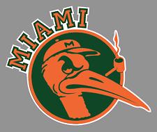 "University of Miami Hurricanes Orange Sebastian 6"" Vinyl Decal Sticker - NCAA"