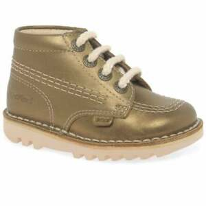 KICKERS KICK HI GIRL BABY INFANT JUNIOR YOUTH CHILDRENS KIDS BOOTS LACE LEATHER