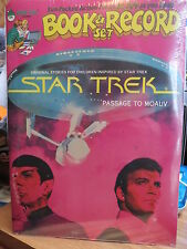 STAR TREK - PASSAGE TO MOAUV - BOOK AND RECORD SET - 1979 - PINK