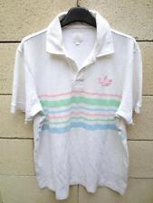 Polo ADIDAS rétro vintage Trefoil blanc shirt oldschool M