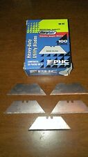 PHC Replacement Blades Two Notches Utility Blades Silver 100 Pack  (STSB-92)