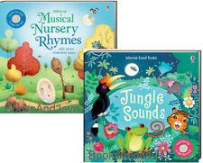 Usborne Sound Books Musical Nursery Rhymes & Jungle Sounds (bb) NEW