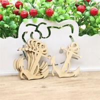 10 / set holz anker formen hängende tags ausschnitte verschönerung decor