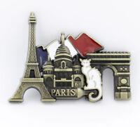 "3D Metal Fridge Magnet ""Paris Landmark"" France Souvenir Gift New Good Quality"