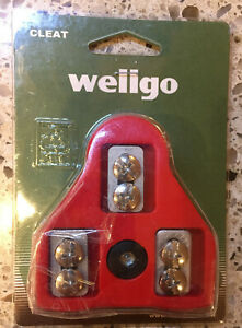 New Wellgo RC-5 RC5 Bike Clipless Pedal Cleat Look ARC compatible Float 9° RED