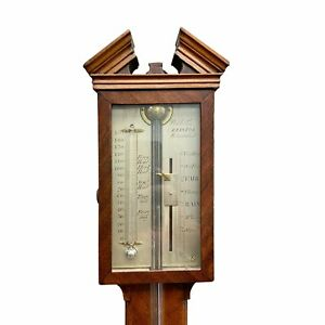 19th Century Mahogany Stick Barometer - Watkins, Bristol