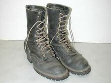 """Vintage WHITE'S Handmade Men's 9"""" Logger Leather Motorcycle Boots USA Sz:12D"""