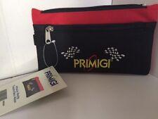 Black /Red  Zippered Pouch  Pencil Bag Holder PRIMIGI NWT Astuccio Racing