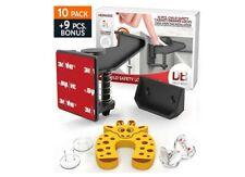 Cabinet Locks Child Safety Set Latches – Child Safety Locks Kit - Red 3M Easy to