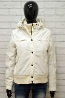 Piumino SCHOTT Donna Taglia Size M Giubbotto Giacca Giubbino Jacket Woman Bianco