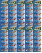 ENVOI AVEC SUIVI EUNICELL 100 Piles bouton AG1 LR621 164 364 531  1,5 VOLT