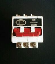 Interruptor de circuito tipo antiguo MEM 303EG 3 fases tipo M6 30Amp Reja de desminado Bs 3871 Usado