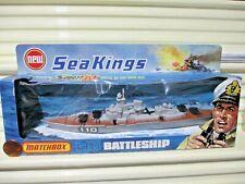 Rare Lesney Matchbox 1975 Sea Kings K-303 Battleship Ship New in C9 NearMint Box