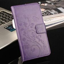 PU Leather Print Flower Card Slot Wallet Flip Case Cover For Vernee Thor Phone