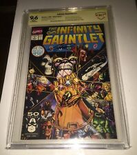 Infinity Gauntlet #1 9.6 SS  SIGNED George Perez & Jim Starlin - Avengers