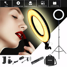 """19"""" LED Ring Light with Stand Dimmable Lighting Kit For Phone Makeup Live Video"""