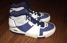 2004 Nike Zoom LeBron 2 II White Navy Red Size 10 Basketball Shoes VTG OG RARE