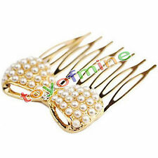 Fashion Cute Pearl bow exquisite little comb hair jewelry