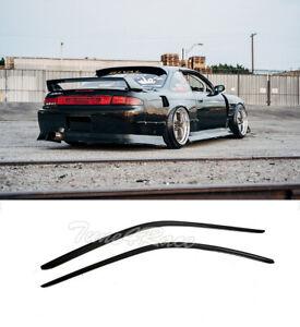 For 95-98 Nissan 240SX S14 DM Window Deflectors Visors Side Vents Smoke Tinted