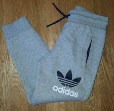 Boys Adidas Originals Grey Warm Jogging Bottoms VGC Age 7-8 Yrs