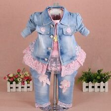 Unbranded Baby Girls' Denim Clothing